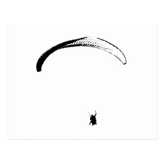 Black & White Parachute - Postcard