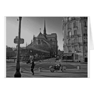 Black & White Paris notre dame Card