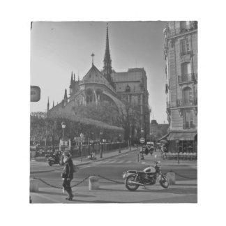 Black & White Paris notre dame Notepad