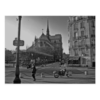 Black & White Paris notre dame Postcard