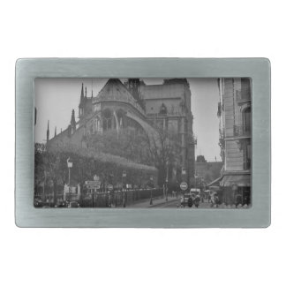 Black & White Paris notre dame Rectangular Belt Buckle