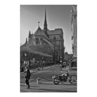 Black & White Paris notre dame Stationery