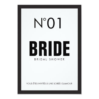 Black & White PARIS Theme BRIDAL SHOWER Party Card