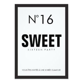 Black & White PARIS Theme SWEET SIXTEEN 16 PARTY Card