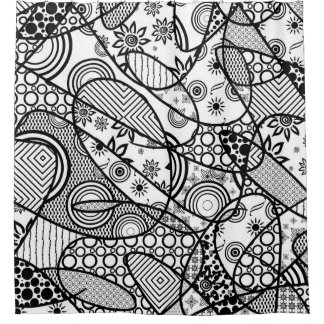 Black & White Pattern Patchwork 01