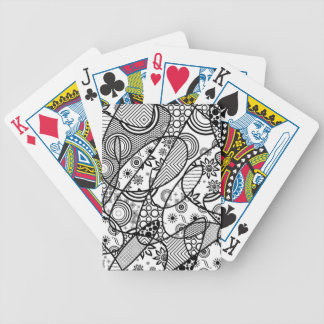Black & White Pattern Patchwork 01 Bicycle Playing Cards