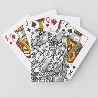 Black & White Pattern Patchwork 01 Playing Cards