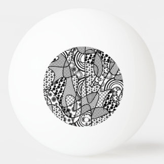 Black & White Pattern Patchwork 02 Ping Pong Ball