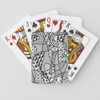 Black & White Pattern Patchwork 02 Playing Cards