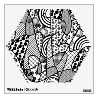 Black & White Pattern Patchwork 02 Wall Decal