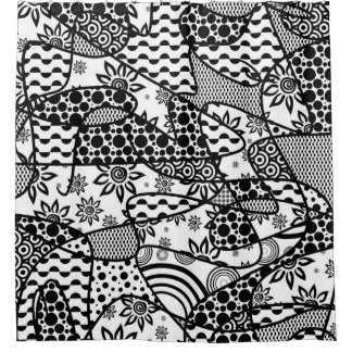Black & White Pattern Patchwork 03
