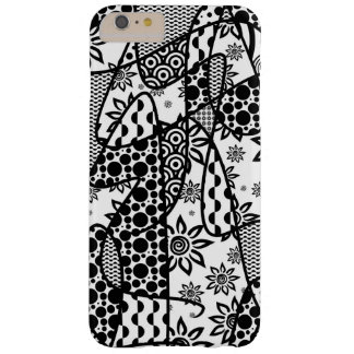 Black & White Pattern Patchwork 03 Barely There iPhone 6 Plus Case