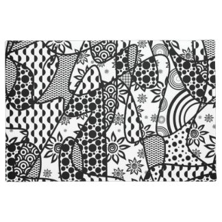 Black & White Pattern Patchwork 03 Doormat