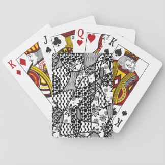 Black & White Pattern Patchwork 03 Playing Cards