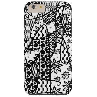 Black & White Pattern Patchwork 03 Tough iPhone 6 Plus Case