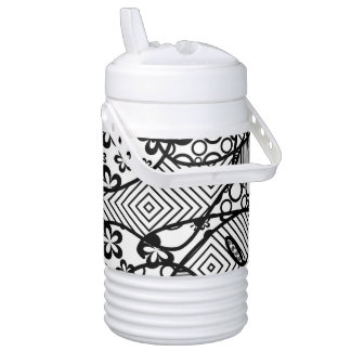 Black & White Pattern Patchwork 04 Cooler