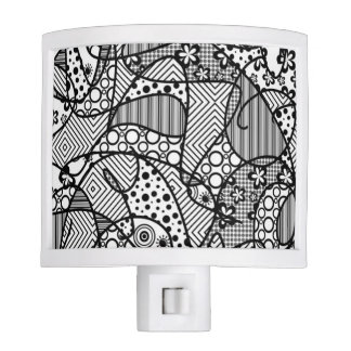 Black & White Pattern Patchwork 04 Nite Lites