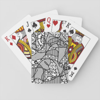 Black & White Pattern Patchwork 04 Playing Cards