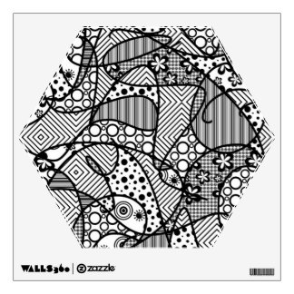 Black & White Pattern Patchwork 04 Wall Decal