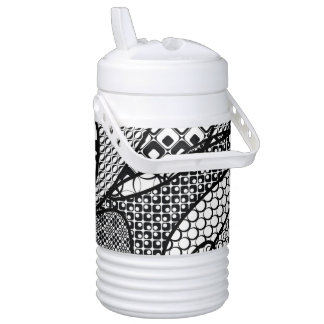 Black & White Pattern Patchwork 05 Cooler