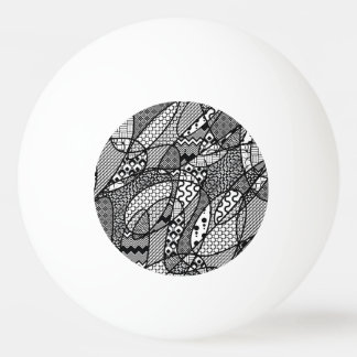 Black & White Pattern Patchwork 05 Ping Pong Ball