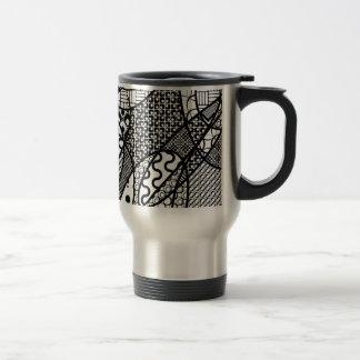 Black & White Pattern Patchwork 05 Travel Mug