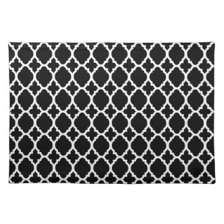 Black White Pattern place mat