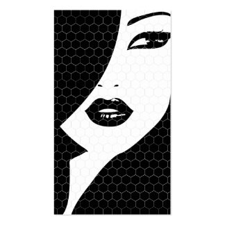 BLACK & WHITE PATTERNED GIRL Business Card