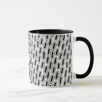 Black White Patterned Mug