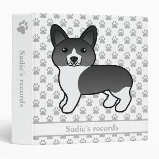 Black & White Pembroke Welsh Corgi Pet Records Vinyl Binders