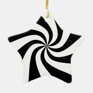 Black & White Peppermint Candy Star Tree Ornament