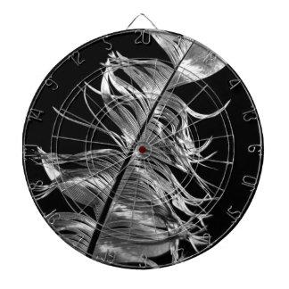 Black & White Photographic Feather Art Dartboard