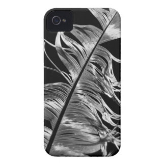 Black & White Photographic Feather Art iPhone 4 Case