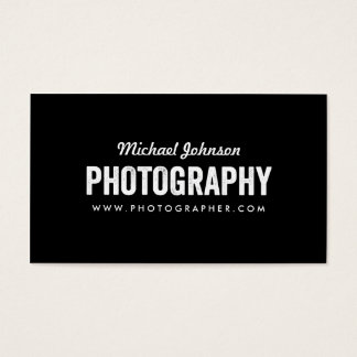 Black & White Photography Business Card