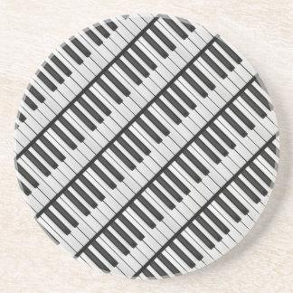 Black & White Piano Keys Coaster
