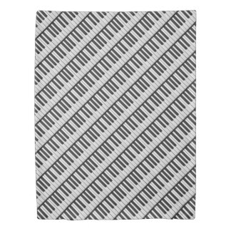 Black & White Piano Keys Duvet Cover