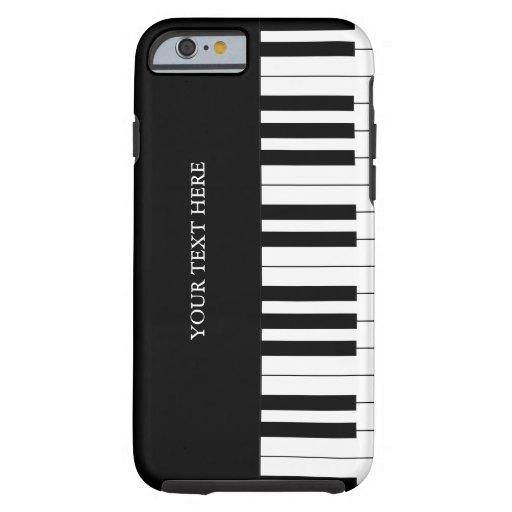 Black white piano keys iphone 6 case tough iphone 6 case for Nuove case da 1 piano