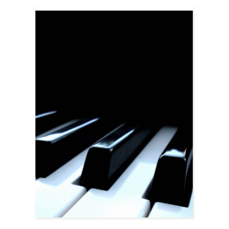 Black & White Piano Keys Postcard