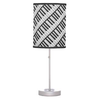 Black & White Piano Keys Table Lamp