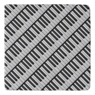 Black & White Piano Keys Trivet