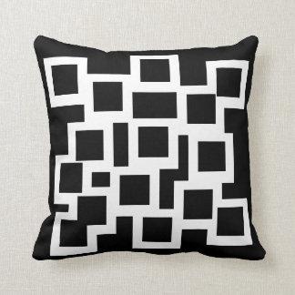 Black & White Pillow/Cushion Vers 1 Squares Throw Pillow