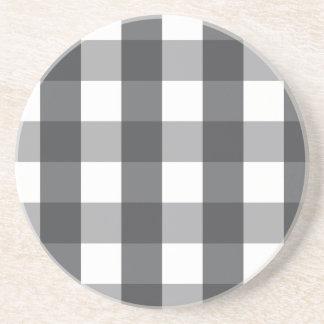 Black & White Plaid Coaster