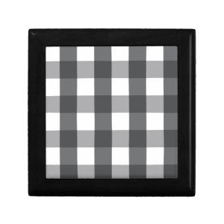 Black & White Plaid Gift Box