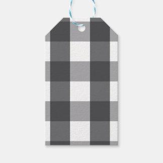 Black & White Plaid Gift Tags