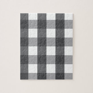 Black & White Plaid Jigsaw Puzzle