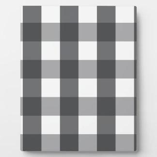 Black & White Plaid Plaque