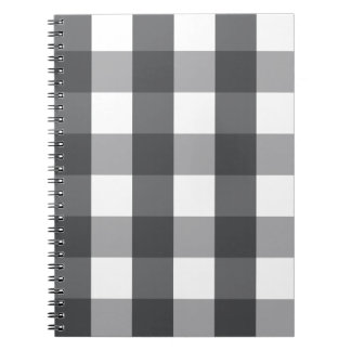 Black & White Plaid Spiral Notebook