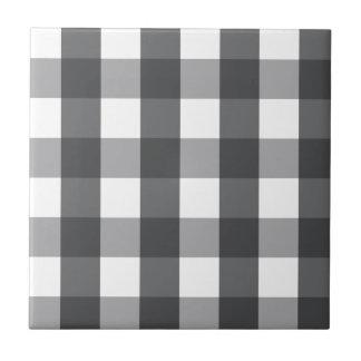 Black & White Plaid Tile