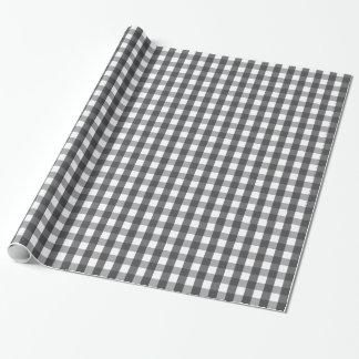 Black & White Plaid Wrapping Paper
