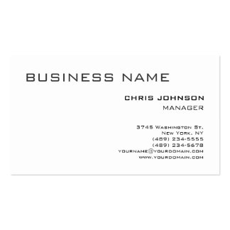 Black White Plain Simple Manager Business Card